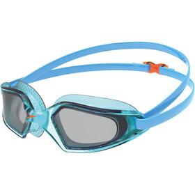 speedo Hydropulse Goggles Kids poolblue/chilliblue/lghtsmoke